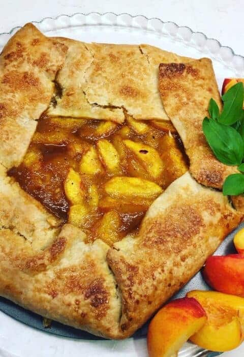 Peach Galette with Brown Sugar Caramel Recipe