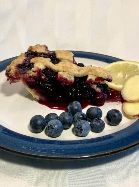 lemon ginger blueberry pie