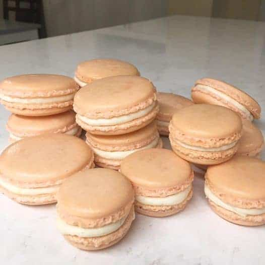 Peach Filled Macarons