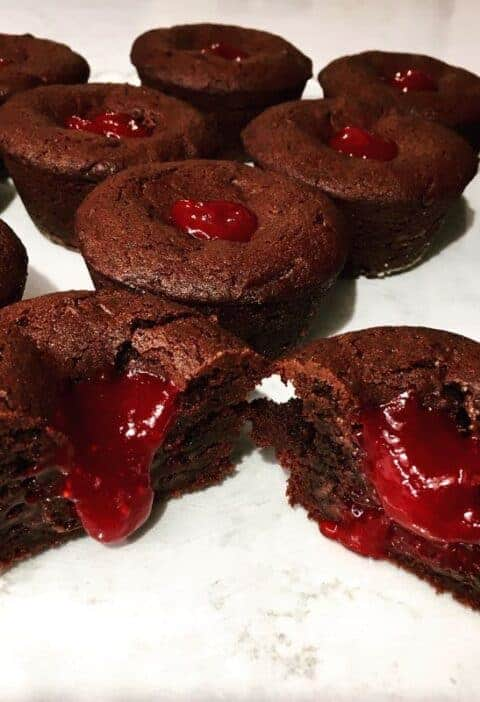 Chocolate Raspberry Brownie Cookie Cup Recipe