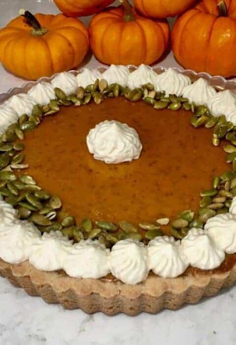 easy sugar and spice pumpkin tart recipe