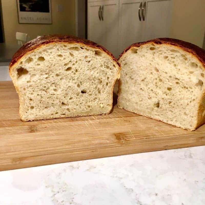 white sourdough sandwich bread