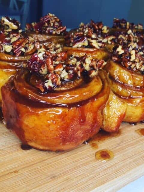 maple bacon pecan sticky buns