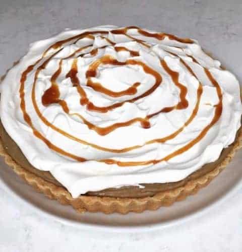 caramel espresso tart